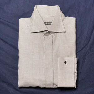 Eton Size 16 Houndstooth French Cuff Formal Shirt